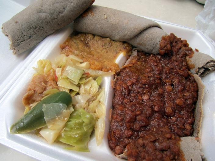 Combo platter, Emame's Ethiopian