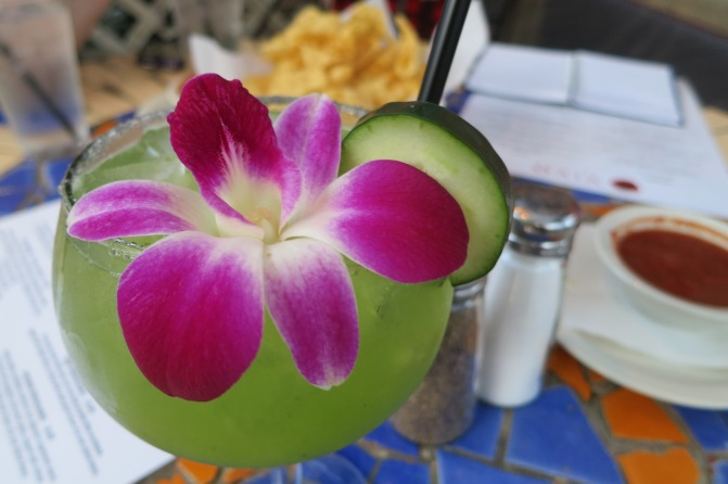 Some fabulous fresh fruit margarita, Vivo
